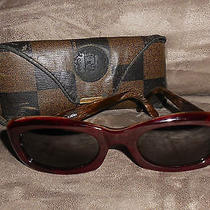 Fendi Brunello Vintage Retro Brown Sunglasses & Case Photo