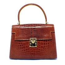 Fendi Cognac Alligator Kelly Style Handbag Photo