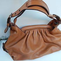 Fendi Cognac Leather Borsa Hobo Doctor Bag Photo
