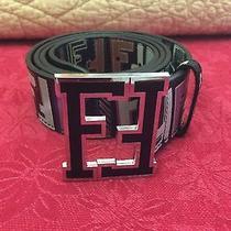 Fendi College Belt Size 46/115 Black Multicolor Photo