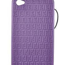 Fendi Cover Case Custodi Iphone 4 4s in Soft Rubber Purple Violet  C46 Photo