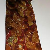 Fendi Cravette Hand Made Pure Silk Vivid Floral Italian Necktie  Photo