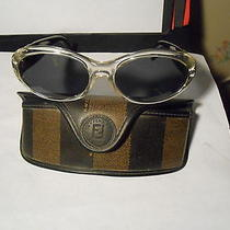 Fendi Designed Sunglasses Crystal/ebony Fs 158 Original Stripped Case Look Wow Photo