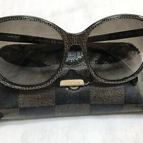 Fendi Ff Monogram Women's Large Sunglasses With Case Khaki Brown Italy 140 Photo