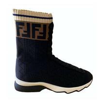 Fendi Ff Navy Sock Sneakers Size It 36 Brand New Photo