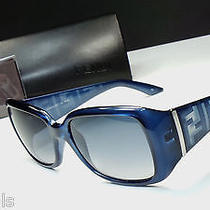 Fendi Fs5197 428 Women's Blue Frame Designer Sunglasses Made in Italy -