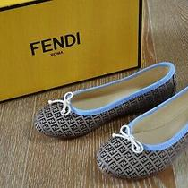 Fendi Girls Signature Ballet Flats Size Euro 31/us 13 Nib Italy Photo