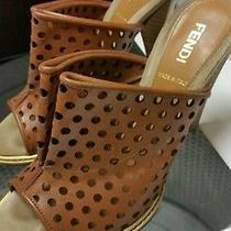 Fendi Gorgeous Heels Shoes Brown and Wood Colors Photo