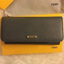 Fendi Gray Leather Continental Wallet New in Box Photo
