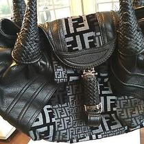 Fendi Handbag in Black Zucca Print Photo