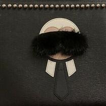 Fendi Karlito Large Black and White Clutch Photo