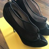 Fendi Ladies Brown/black Suede Stiletto Heels Decollete Style 813672 Size 40 Photo