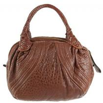 Fendi Leather Spy Medium Bag - Two Two Cognac Photo