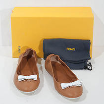 Fendi ' Lets Dance' Ballet Flat Brown Size 39 New   Photo