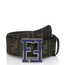 Fendi Logo College Belt Blue Sz. 38 Photo