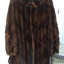 Fendi Mahogany Mink Swing Coat Reversible Photo