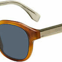 Fendi Men 0070/s Men's Sunglasses Dark Havana / Blue Photo