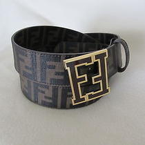 Fendi Men's College Brown Zucca Double Gold