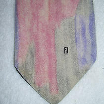 Fendi Mens Tie Cool Design Water Colors Hand Made in Italy Photo