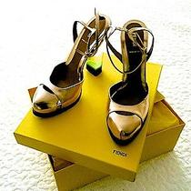 Fendi Metallic Pumps With Acrylic Stack Heel Photo