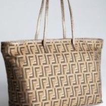 Fendi Metallic Tote Medium. With Metallic Gold f's. Photo