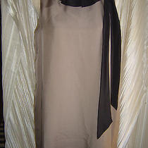Fendi Nwt Dress Italian 46 Us 12 S/l Lt Brown Black Peach Silk Shift W Flowing Photo