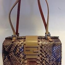 Fendi Painted Python Handbag Photo