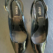 Fendi Patent Slingback Platform Pumps Photo