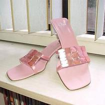 Fendi Pink Slides Sandals 38.5/8.5 Shoes Mother of Pearl Photo
