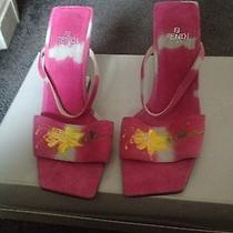 Fendi Pink Suede Sandals Photo