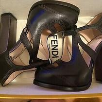Fendi Platform Heel Sandals Size 35 Black Photo