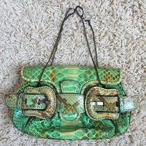 Fendi Python Green/turquoise Clutch Photo