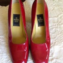 Fendi Red Patent Leather Heels  6.5 B (Eur 36.5)   3