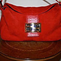 Fendi Red Suede Handbag Photo