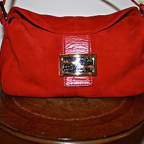 Fendi Red Suede Handbag Photo