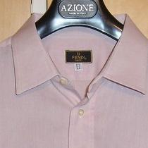Fendi Salmon Pink Mens Dress Shirt Thin Material 17.5 Photo