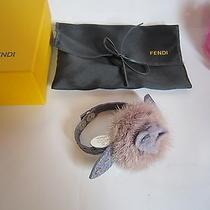 Fendi Selleria Leather and Mink Fur Bracelet. Mint. 100% Authentic. Photo