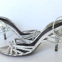 Fendi Silver Heels in Size 38/8 Photo