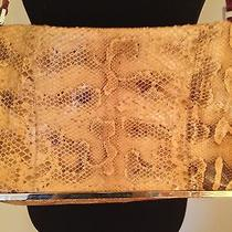 Fendi Snakeskin Large Envelope Hanbag With Sterling Silver Accents Photo