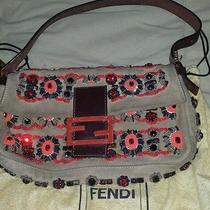 Fendi Suede Beaded Baguette Photo