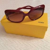 Fendi Sunglasses Dark Red Brown Red Gradient Photo