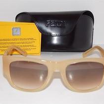 Fendi Sunglasses Fs474m Biscuit Gray Gradient Uv Lenses W/ Case Photo