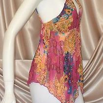Fendi Tank Top Blouse Swimsuit Cover-Up (Medium Large Xl) Retro 1970s Excellent Photo