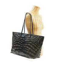 Fendi Tote Bag Zucca Zebra Animal 8bh185 Coating Canvas Leather Brown Black Photo