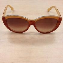 Fendi Vintage Inspired Sunglasses Two Tone Butterscotch Made in Italy Nwot Photo