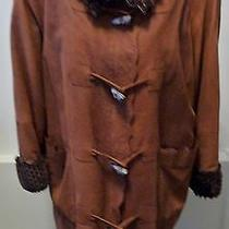 Fendi Vintage Pebbled Leather & Fur Coat With Removable Vest Size 42/8 4500. Photo