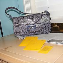 Fendi Water Snakes Skin Baguette Bag Covertible Clutch Photo