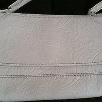 Fendi White Leather Handbag Tooled Leather Photo