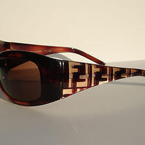 Fendi Wrap Sunglasses Fs299 Black Plastic Signature F Logo Photo