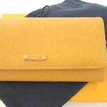 Fendi Yellow Leather Continental Wallet New in Box Photo